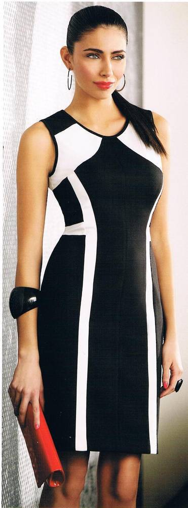 Black and winter white dress