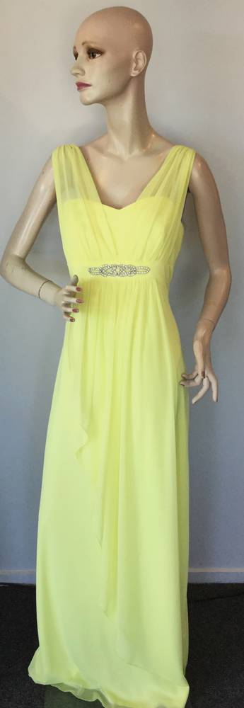 Full length chiffon gown with diamantes  - size 14 only