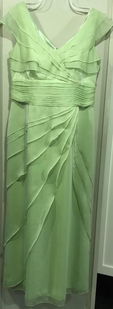 Chiffon V neck layered gown - ON SALE - $699.00 DOWN TO $199.00