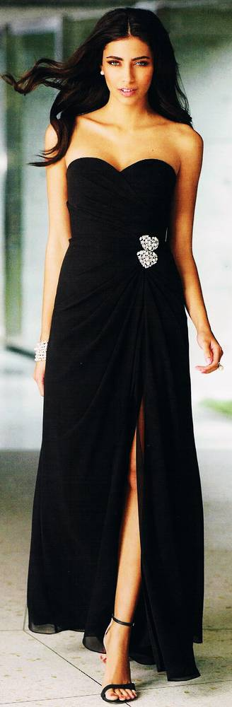 Strapless full length gown - NOT THE COLOUR PICTURED