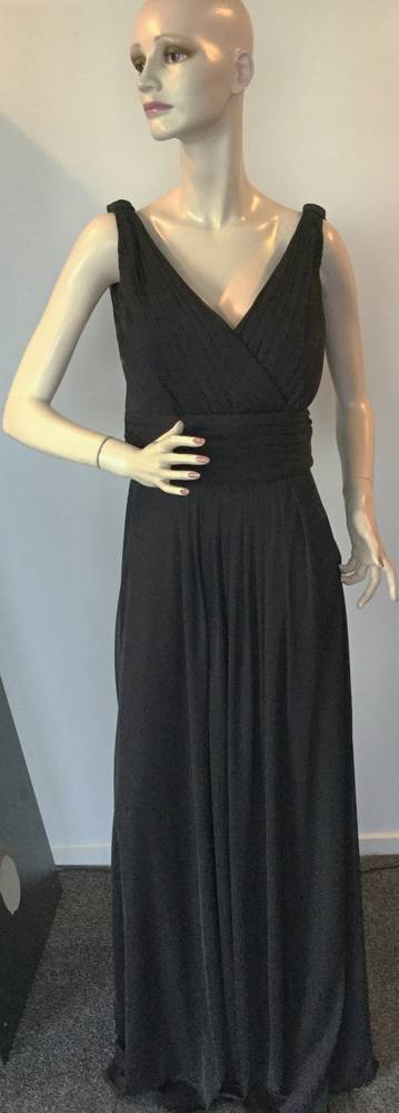Black gown with a back cowl - size 20 only
