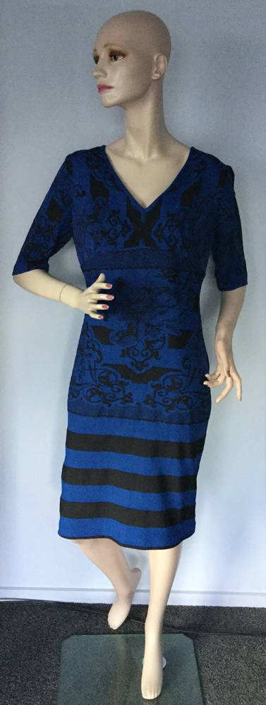 Royal and black dress - size 16 only