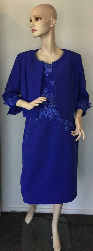 Electric blue dress and jacket - one only size 18/20