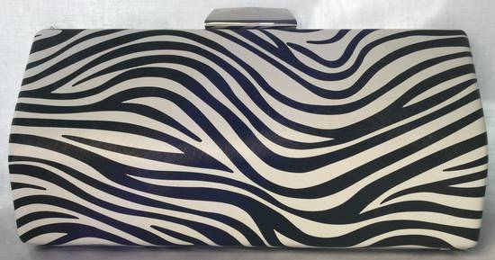 Black and white zebra print clutch - one only