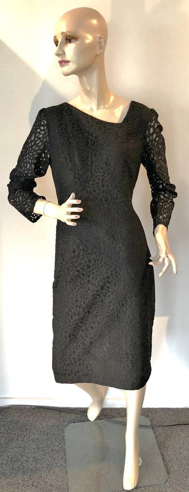Black lace dress with long sleeves - size 10 and 14 only