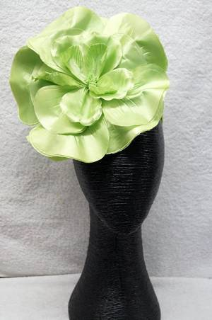 Citrus green flower fascinator