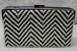 Black and white zig zag effect bag - one only