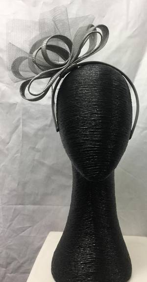 Silver multi looped fascinator on a headband - one only