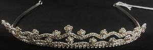 Silver diamante tiara - one only