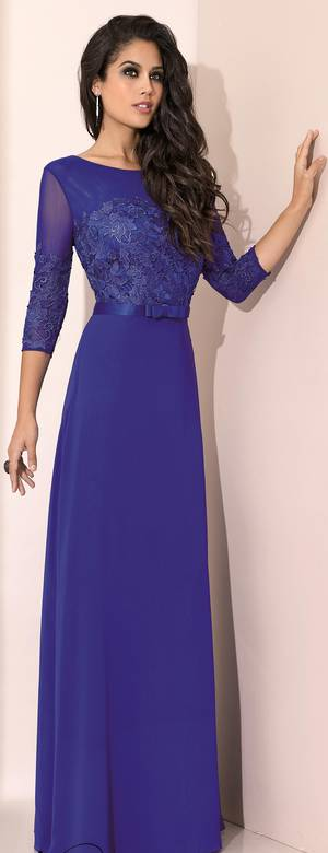 Royal blue full length gown