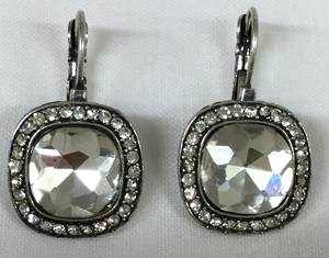 Crystal and diamante earrings