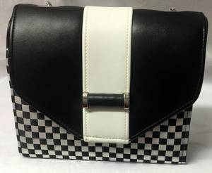 Black and white geometric bag