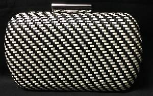 Black and white clutch - one only