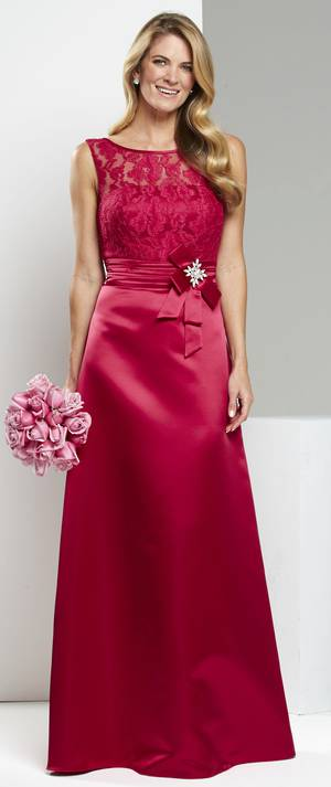 Satin and lace A line gown - ON SALE