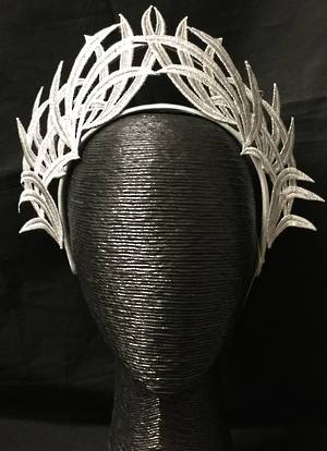Silver lace crown - one only