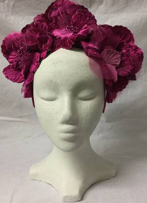 Fuchsia floral crown