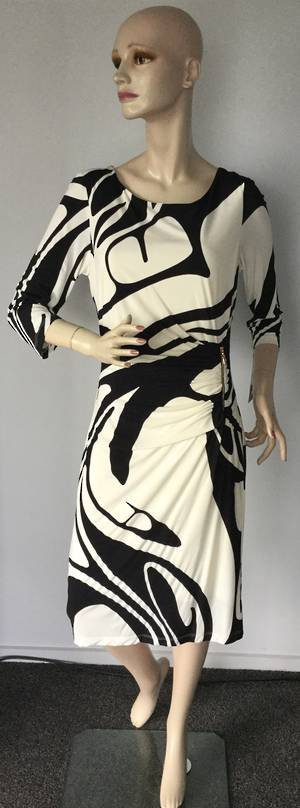 Cream and black dress - size 12 only