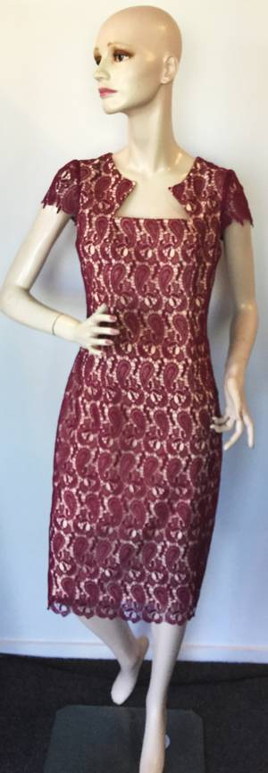 Lace and nude lining dress - one only size 10