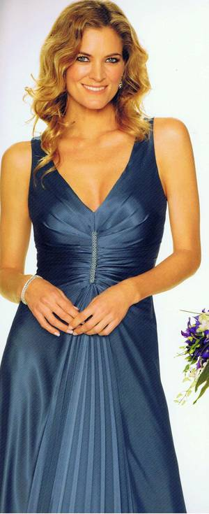 Satin pleated front gown - NOT THE COLOUR PICTURED