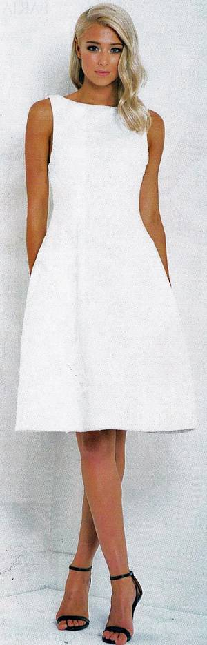 White A line midi dress - one only size 10