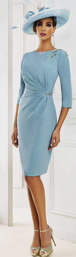 Duck egg blue dress