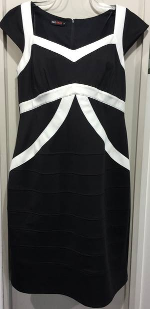Black and winter white dress - one only size 16/18