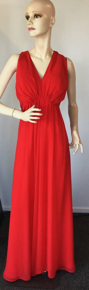 Red chiffon gown -  size 20 only