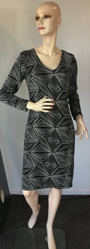 Black and silver dress - size 12 only