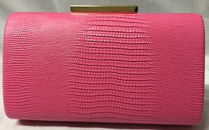 Pink clutch bag - one only