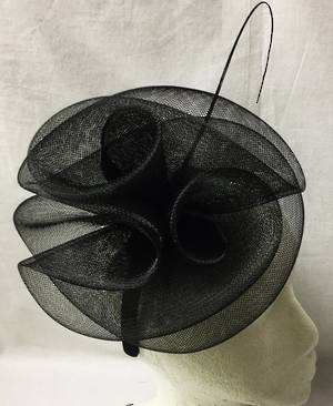 Black double rosettes on headband - one only