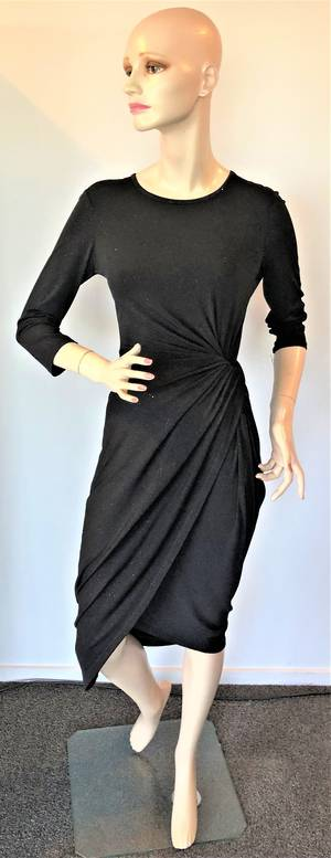 Jersey  knit wrap dress - one only size 10