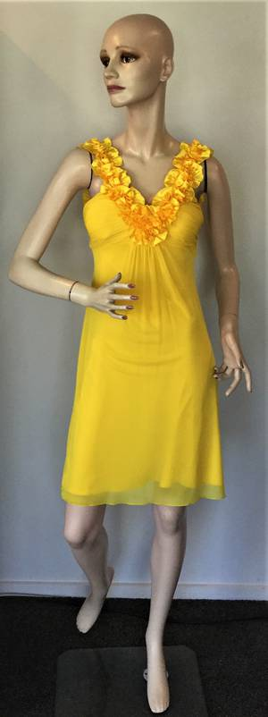 Ruffle neck dress - size 6 only