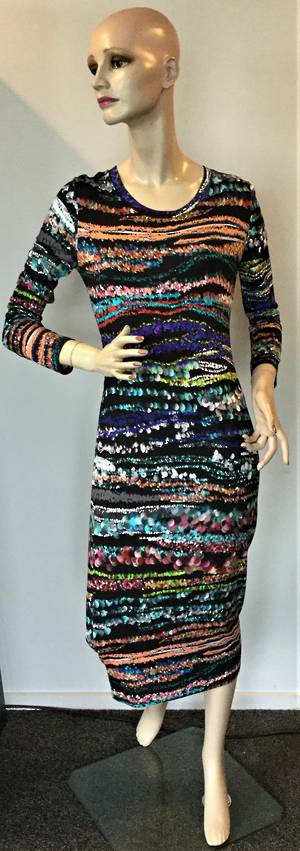 Multi coloured dress - size 16 only