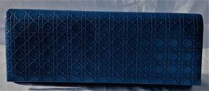 Teally blue clutch bag - one only