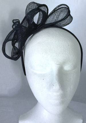 Navy (ink) pleated fascinator