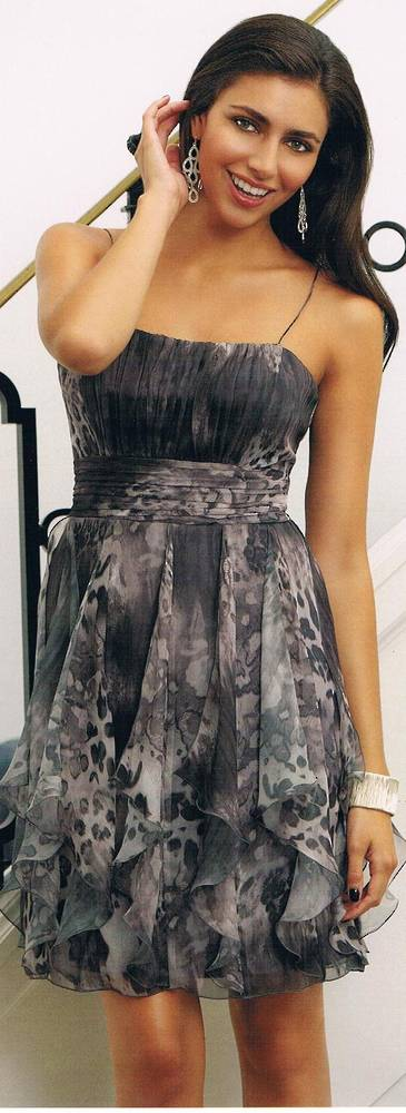 Pattern Chiffon dress