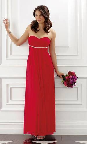 Strapless sweetheart neckline gown with diamantes