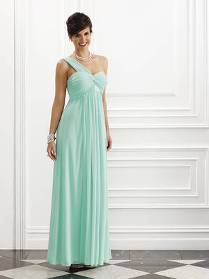 One shouldered full length grecian style gown