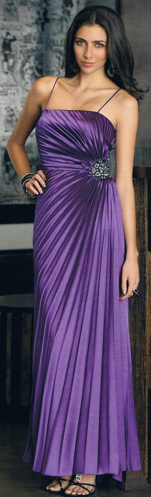 Concertina pleat full length gown - ON SALE