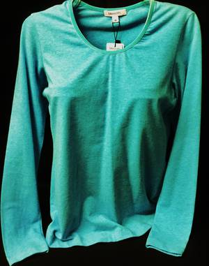 Aqua long sleeved round neck top   SALE ITEM