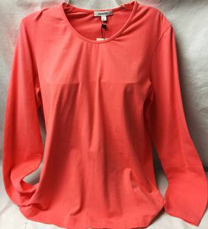 Coral long sleeved round neck top   SALE ITEM